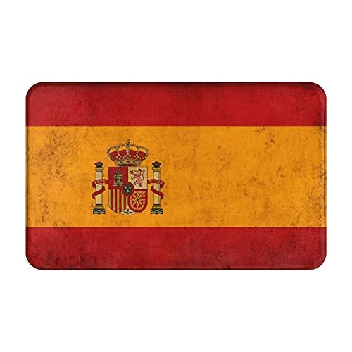 CONICIXI Felpudo de Entrada Interior Alfombra España-Grunge-Bandera Antideslizante Tapete para Puerta Lavable a Máquina para Cocina baño balcón
