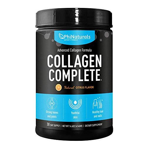 Collagene completo, supplemento in polvere di collagene idrolizzato e peptidi, 10.000 mg di peptidi di collagene tipo 1, 2, 3, acido ialuronico e altro