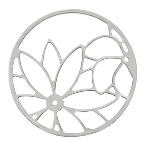 MY iMenso Sonnenblumen Cover Insignie Silber 33 mm 33-0719