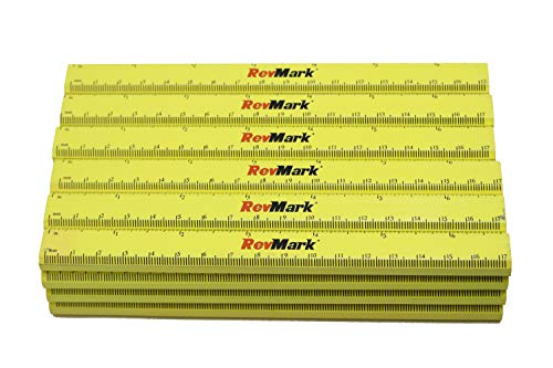 RevMark Carpenter Pencils with Ruler Printed on Pencil (24 Pack) (Neon...