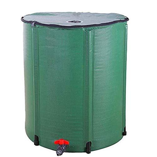 Unbekannt 50 L Faltbarer Regenfass, tragbarer Regenfass-Wassersammler Faltbarer Tank mit Zapfenwasserspeicher, mit Zapfenfilter