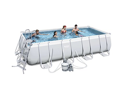 Bestway Power Steel 56390 - Piscina (Piscina con Anillo Hinchable, Rectangular, 13177 L, 110 cm, 3785 l/h, PVC)