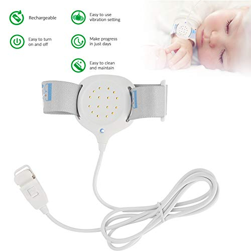 Alarm für Bettnässen - Feuchtigkeitssensor Alarm Enuresis Monitor mit Sound für Bettnassensensor für Säuglings, ältere Erwachsene Inkontinenz