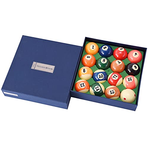 HSBAIS Juego de Bolas de 2-1/4'Bolas de Billar/Pool para Mesa de Billar Regular, Billiard Set Resina Pura Pool Table Balls en tamaño de regulación y Peso Completo,57.2mm