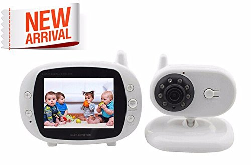 BW 3.5 'Radio inalámbrica electrónica Niñera Video Sonido Bebé Monitor Cámara de Seguridad IR 2 vías Talk Baby Dormir Monitor(Con protector de pantalla en el monitor)