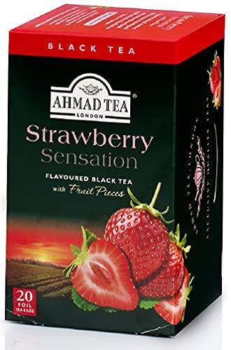 スマートマットライト AHMAD TEA ( アーマッドティー ) ストロベリー ティーバッグ 20袋 ×2個 [ 英国ブランド 個包装 ]