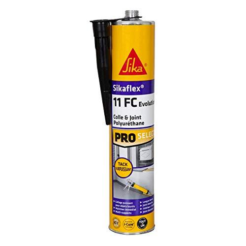 Sikaflex 11 FC Evolution - Masilla adhesiva de sujeción inmediata potente, 300 ml, color negro