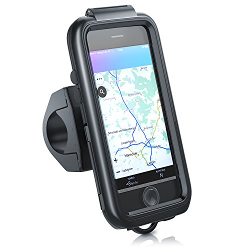 CSL - Fahrradhalterung kompatibel mit Apple iPhone 7 7s - Fahrrad Case Tasche spritzwasserdicht - Handy Smartphone-Halterung - optimal geeignet für Bike Navigation