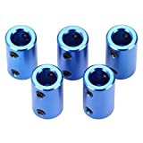 Coupleur d'imprimante 3D Nema 17 Arbre De Moteur Accouplements flexibles Connecteur en alliage d'aluminium pour Ender 3 Ender 3 Pro CR-10 10S S4 Prusa Duplicator i3 CNC Machine Bleu