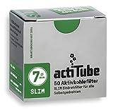 actiTube Slim Aktivkohlefilter 10 x 50 Stück - Charcoal Filters