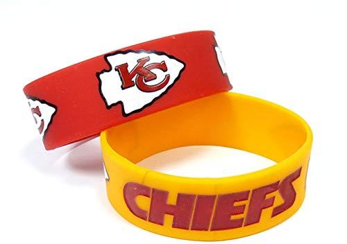 NFL Kansas City Chiefs Silicone Rubber Bracelet, 2-pack