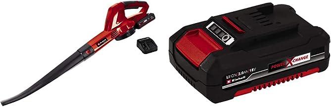 Einhell GE-CL 18 Li E Kit Power X-Change Cordless Leaf Blower & 4511395 2.0 Ah Power X-Change Battery, Red
