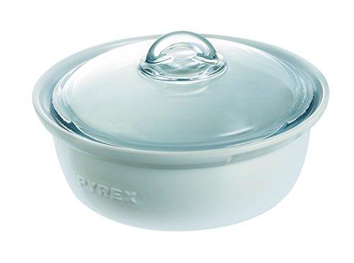 Pyrex Impressions - Cacerola con Tapa, 20 x 20 x 9 cm, Color Blanco
