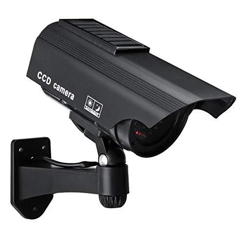 Linpu - Cámara de vigilancia para exteriores (funciona con energía solar, con sensor de movimiento, resistente al agua, infrarrojos, luz LED roja), Plateado