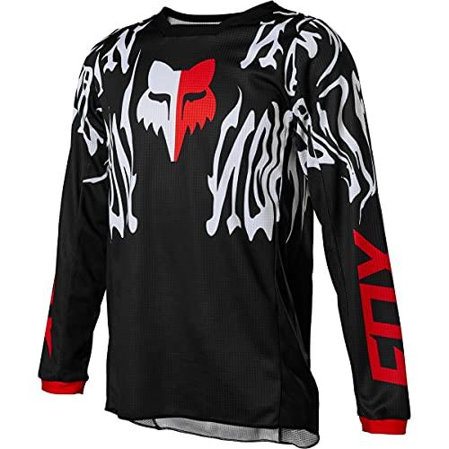 Fox Racing Unisex-Kinder 180 Motocross Jersey Trikot, schwarz/red, X-Large