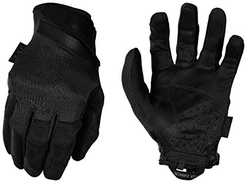 Mechanix Wear Guantes Specialty 0,5Mm Covert (Grande, Negro Entero) Tácticos de Tiro Deportivo, Large