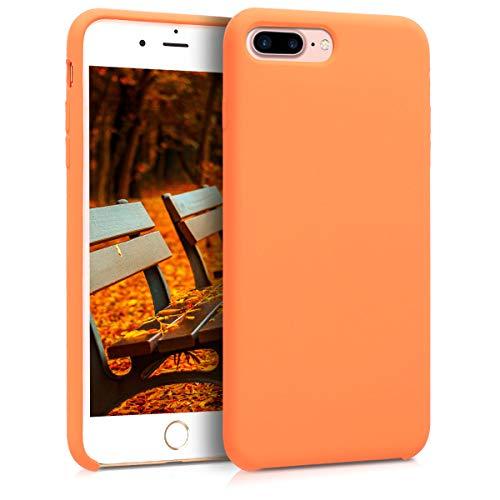 kwmobile Hülle kompatibel mit Apple iPhone 7 Plus / 8 Plus - Hülle Silikon gummiert - Handyhülle - Handy Hülle in Cosmic Orange