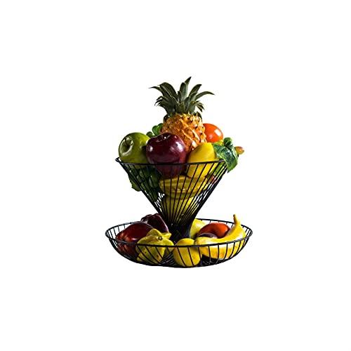 XZBXGZWY Fruit Holder Grape Tomatoes Banana Holder Stand 2 Tier Metal Fruit Basket Storage Basket Fruit Tray Metal Fruit Basket, 30 * 22cm/11.8×8.6Inch
