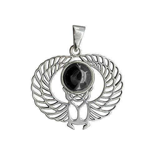 Beldiamo - Colgante de plata de ley 925, 6 g, diseño de escarabajo y