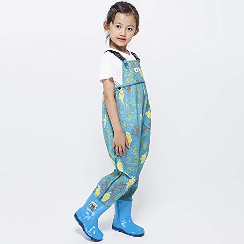 CYzpf Wathose Herren Anglerhose mit Stiefel Wasserdicht für Kinder Jugend Atmungsaktiv Bequeme Wassersport Angelgerät Angeln Essential Gear,Dinosaur,28