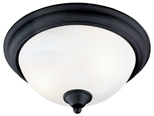 Hardware House 545061 Tuscany 12-1/2-Inch by 6-Inch Ceiling Lighting Fixture Textured Black