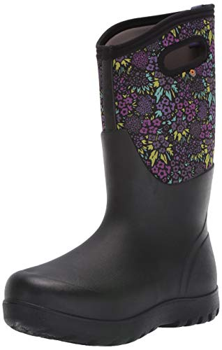 BOGS womens Neo-classic Tall Nw Garden Waterproof Rain Boot, Garden Print -Black Multi, 10 US