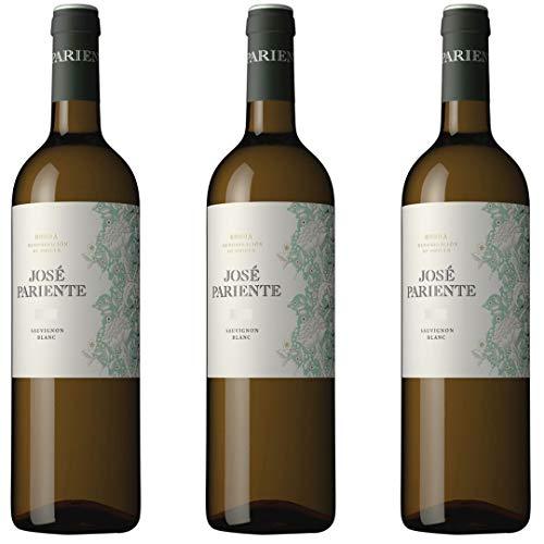 Jose Pariente Vino Blanco Sauvignon Blanc - 3 botellas x 750ml - total: 2250 ml