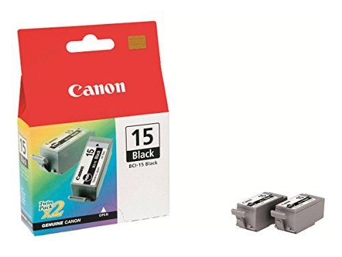 Canon BCI-15 2 Doppelpack original Tintenpatrone Schwarz für Pixma Inkjet Drucker iP90-iP90v