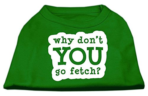 Mirage You Go Fetch Screen Print Shirt, Medium, Groen