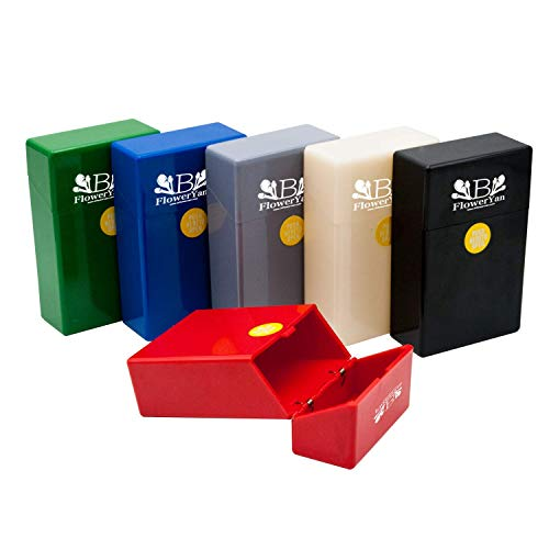 BFlowerYan Hard Box Full Pack Cigarette Case (King Size) (Assorted Colors) (3 Pack)