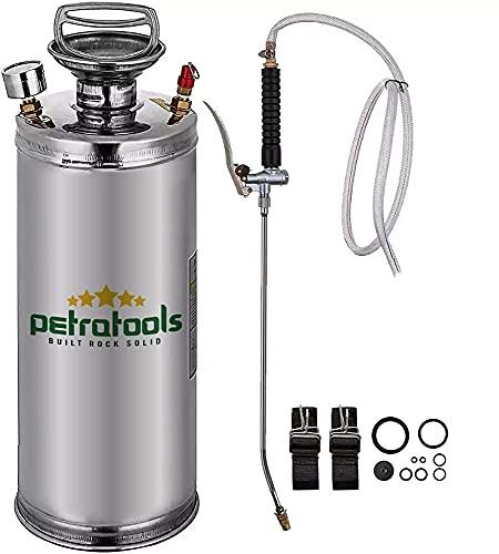 PetraTools Concrete Sprayer, Concrete Sealer Sprayer, Stainless Steel Pump Up Sprayer, Solvent Sprayer, Stainless Steel Sprayer, Metal Sprayer, Galvanized Stucco Sprayer, Industrial Pump Sprayer (2G)