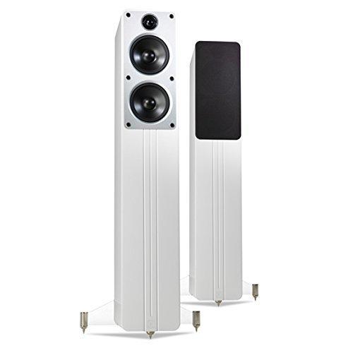 Q Acoustics Concept 40 Altoparlanti (2-way, con fili, Banana, 150 W, 53 - 22000 Hz), Bianco