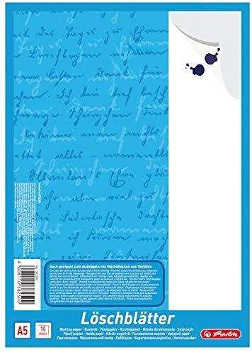Herlitz 382507 Löschblattblock A5, 10 Blatt (5er Pack)
