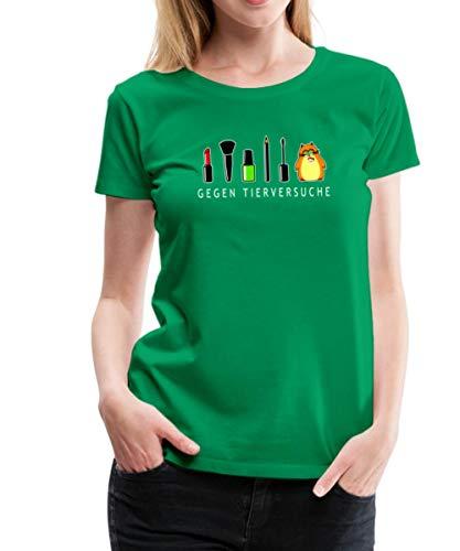 Hamster Gegen Tierversuche Geschminkt Frauen Premium T-Shirt, S, Kelly Green