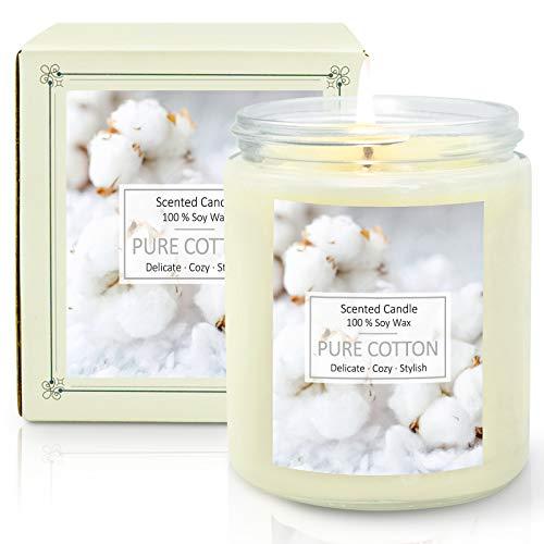 SCENTORINI Duftkerze im Glas, Sojawachs Aromatherapie Kerze für Raumduft, Brenndauer bis zu 45 Stunden, 200 g - Duft von Baumwolle