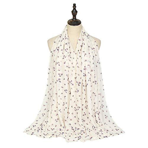 XINDUO Señoras Elegante Estolas Fular,Toalla de Seda con mantón de Gasa con Estampado de Moda 020# _180 * 70,Bufandas De Seda Suave para Mujer