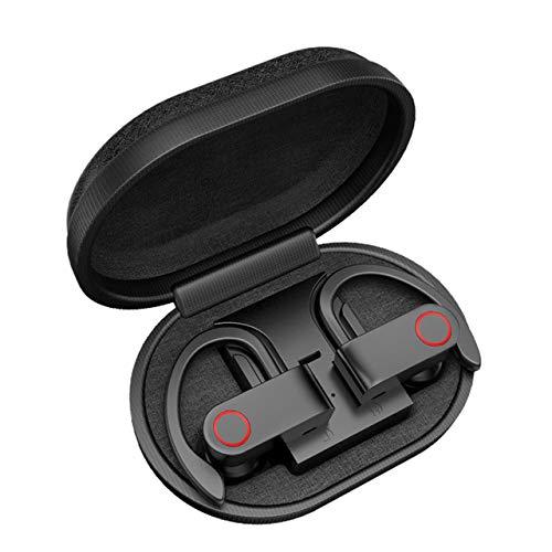 Bumpy Road Auriculares inalámbricos Bluetooth TWS con Caja de Carga Auriculares Bluetooth V5.0 Auriculares estéreo verdaderamente Resistentes al Sudor con micrófono