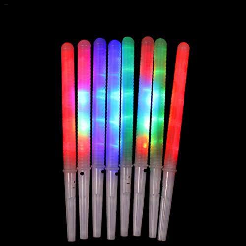 8 Pcs LED Cotton Candy Cones Reusable Cotton Candy Sticks LED Glowing Cotton Candy Cones for Cotton Candy Maker and Any Type of Cotton Candy Sugar