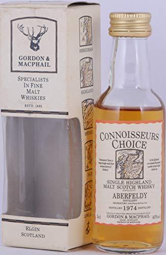 Aberfeldy 1974 Gordon & MacPhail Connoisseurs Choice Miniature Highland Single Malt Scotch Whisky 40,0% Vol. / 50 ml - seltene alte Miniatur-Abfüllung!