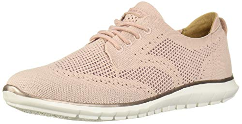 Hush Puppies Women's Tricia Wingtip Oxford, Pale Rose Knit, 08.5 W US
