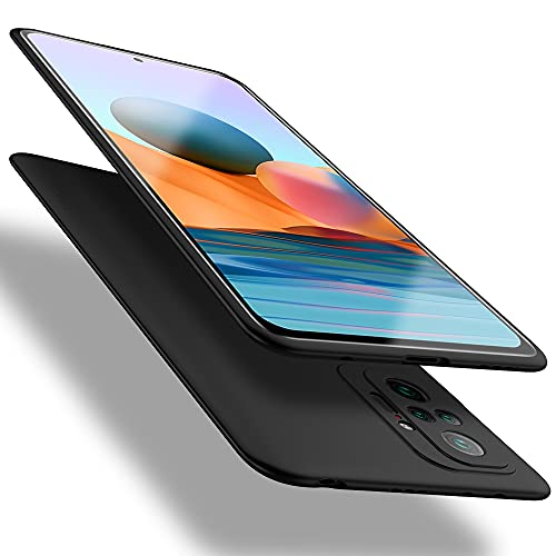 X-level für Xiaomi Redmi Note 10 Pro Hülle, [Guardian Serie] Soft Flex TPU Hülle Superdünn Handyhülle Silikon Bumper Cover Schutz Tasche Schale Schutzhülle für Xiaomi Redmi Note 10 Pro 4G - Schwarz
