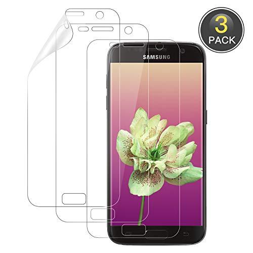 Wiestoung Schutzfolie für Samsung Galaxy S7 [3 Stück] [Premium-Qualität] [Volle Abdeckung] [Blasenfreie] [Klar HD] Displayschutzfolie Weich TPU Folie für Samsung Galaxy S7 (Nicht Panzerglas)