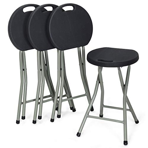COSTWAY Set of 4 Folding Stool, Heavy Duty 18 inch...