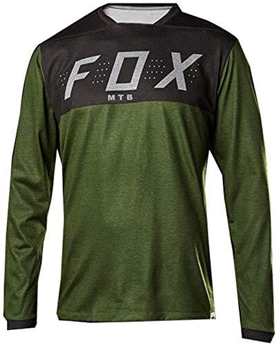 MTB Jersey Alpine Men\'s Fox MTB Motocross Off-Road Jersey Downhill T Shirt Mountain Bike Enduro Jersey MTB Mx Blue Long Sleeve Cycling Shirts L