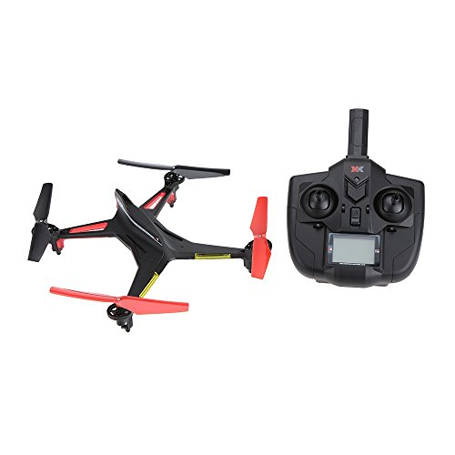 Greaked XK X250 RC Drone 2.4GHz 4CH 6-Axis RC Quadcopter One Key Return Headless RC Aircraft senza fotocamera, Nero