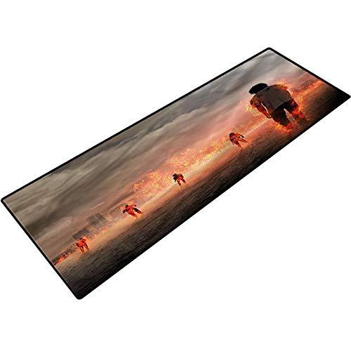 Zombie Outdoor Rugs People in Flame Bathroom mats Bath Rugs Doormats Carpet 18x30 Inch