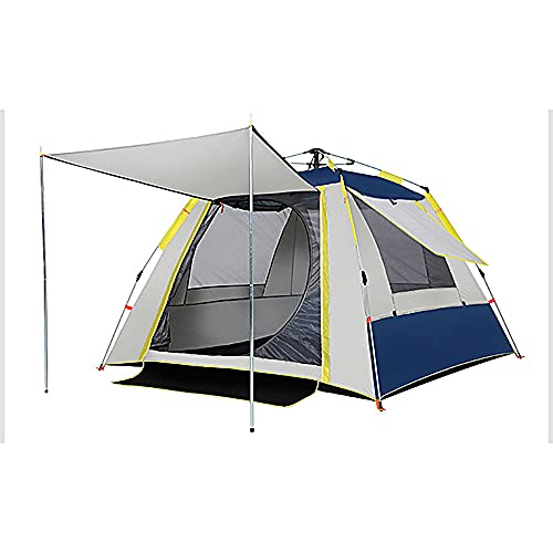 FLZXSQC Tienda De Apertura Rápida Completamente Automática, Carpa Impermeable Y Transpirable para 4 Personas, Adecuada para Festivales De Camping Familiar Y Camping,Navy Blue