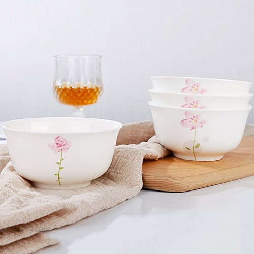 GYC Keramik Schüssel 4,5 Zoll Haushalt Reis Schüssel/Suppe Schüssel/Nudeln Schüssel/Etc. Koreanische Geschirr Dessert Keramikschale (Color : C)