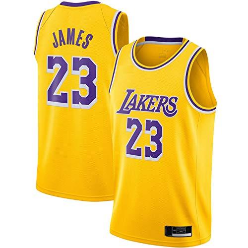 Los Lakers #23 - Camiseta de baloncesto para hombre, color amarillo LeBron