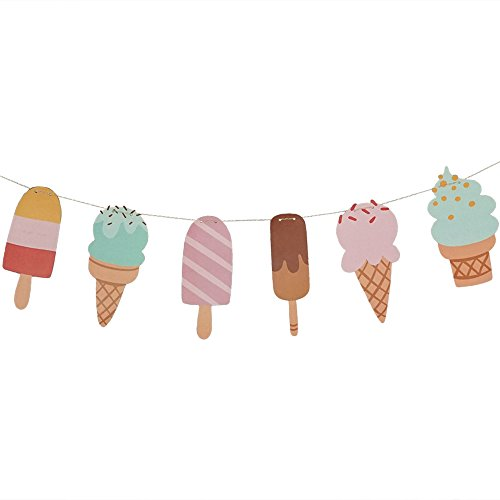 Ice Cream & Popsicle Paper Party Garland, Streamer Decor For All Events - 10 Feet Long Per Garland (1-PACK)